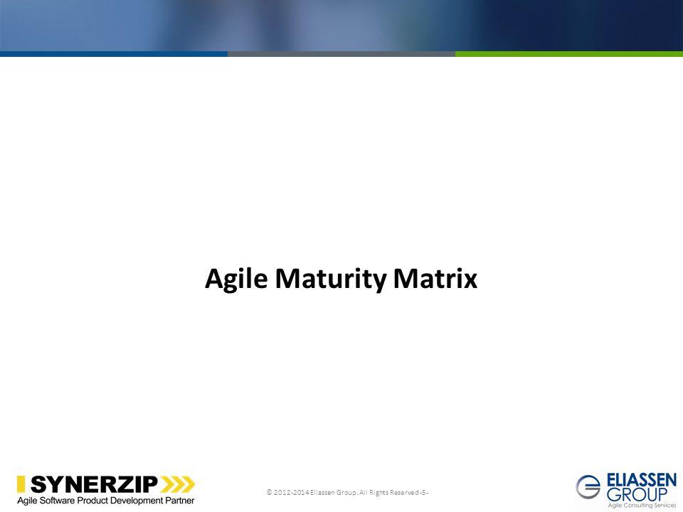 Agile Maturity Matrix