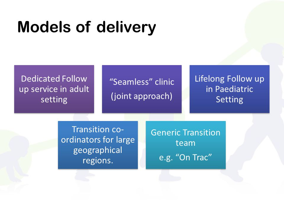Models of delivery Dedicated Follow up service in adult setting