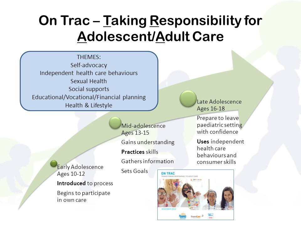 On Trac – Taking Responsibility for Adolescent/Adult Care