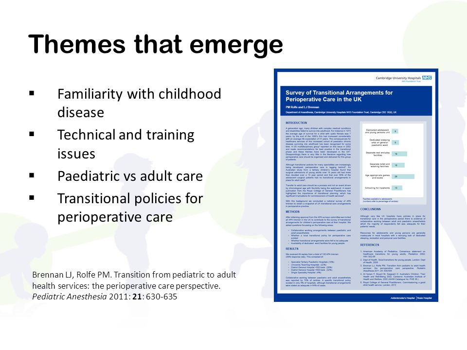 Themes that emerge Familiarity with childhood disease