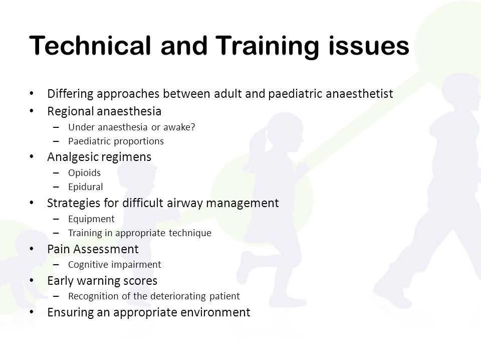 Technical and Training issues