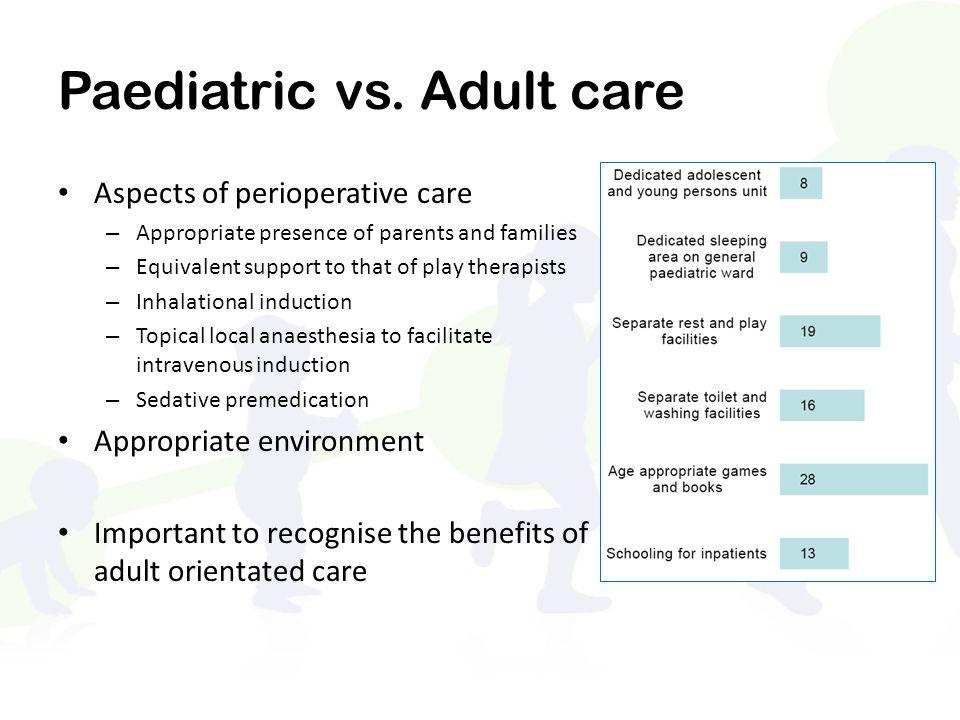 Paediatric vs. Adult care