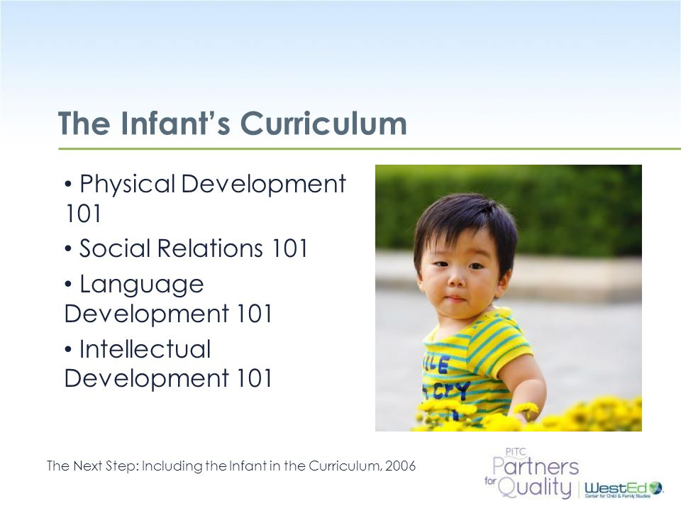 The Infant's Curriculum