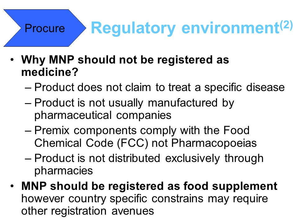 Regulatory environment(2)
