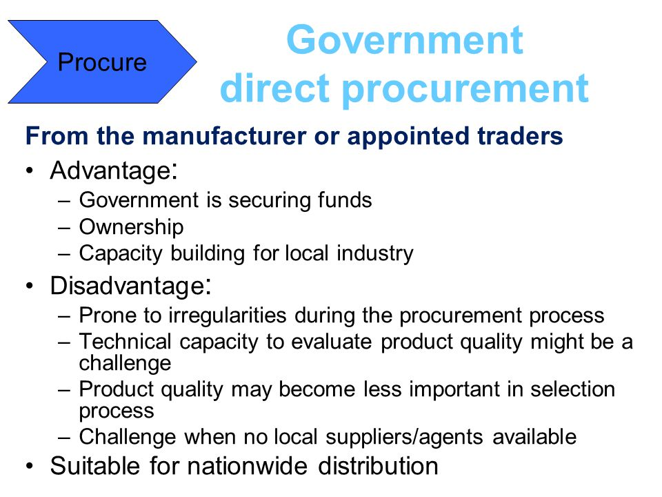 Government direct procurement