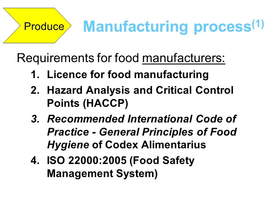 Manufacturing process(1)