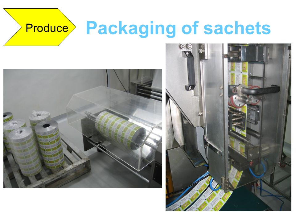 Produce Packaging of sachets