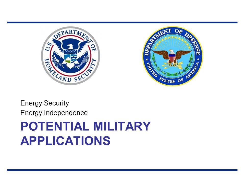 Potential Military Applications