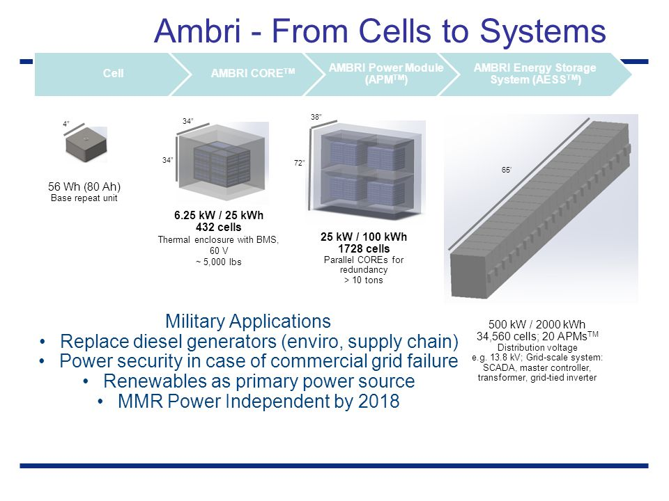 Ambri - From Cells to Systems