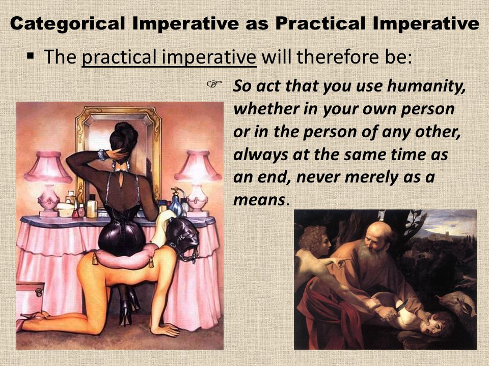 Categorical Imperative as Practical Imperative
