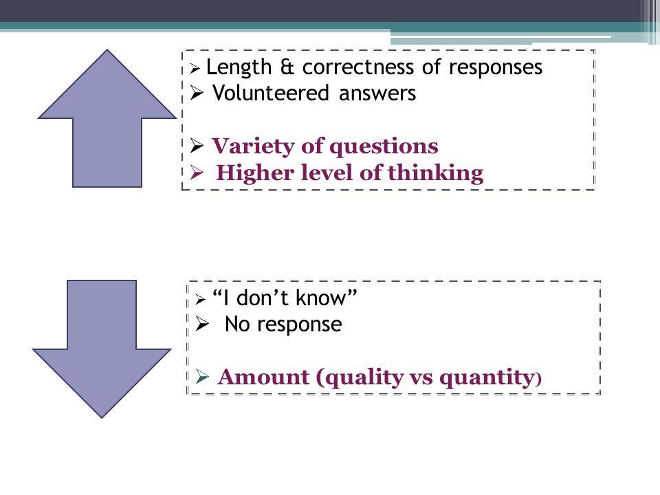 Higher level of thinking