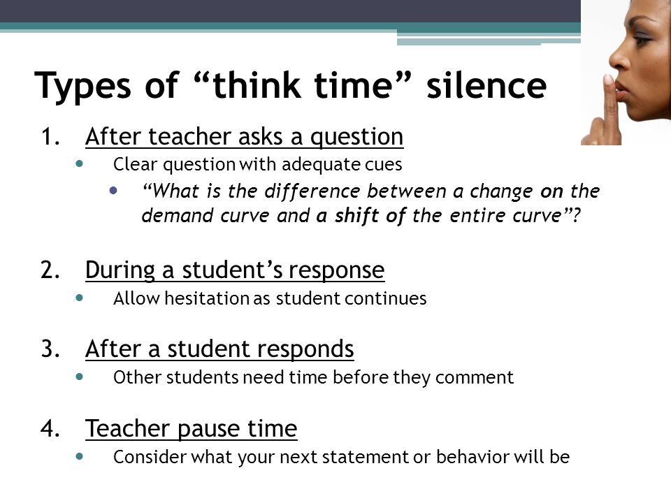 Types of think time silence