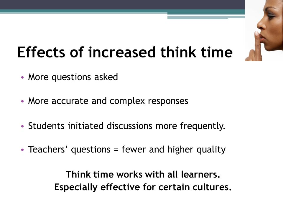 Effects of increased think time