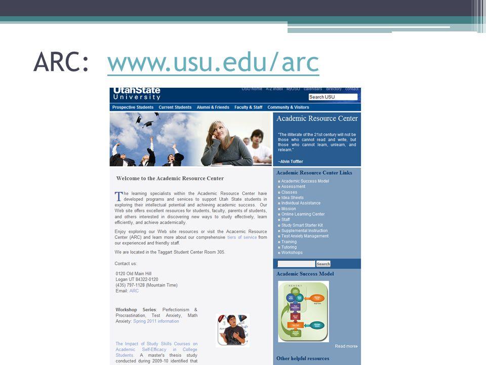 ARC: www.usu.edu/arc