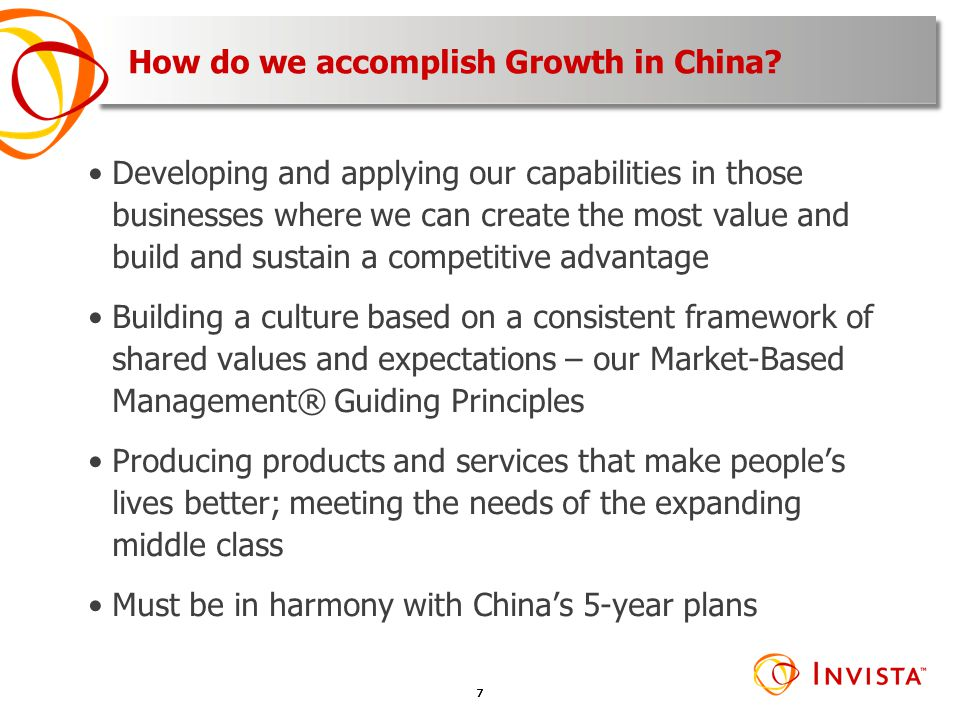 How do we accomplish Growth in China