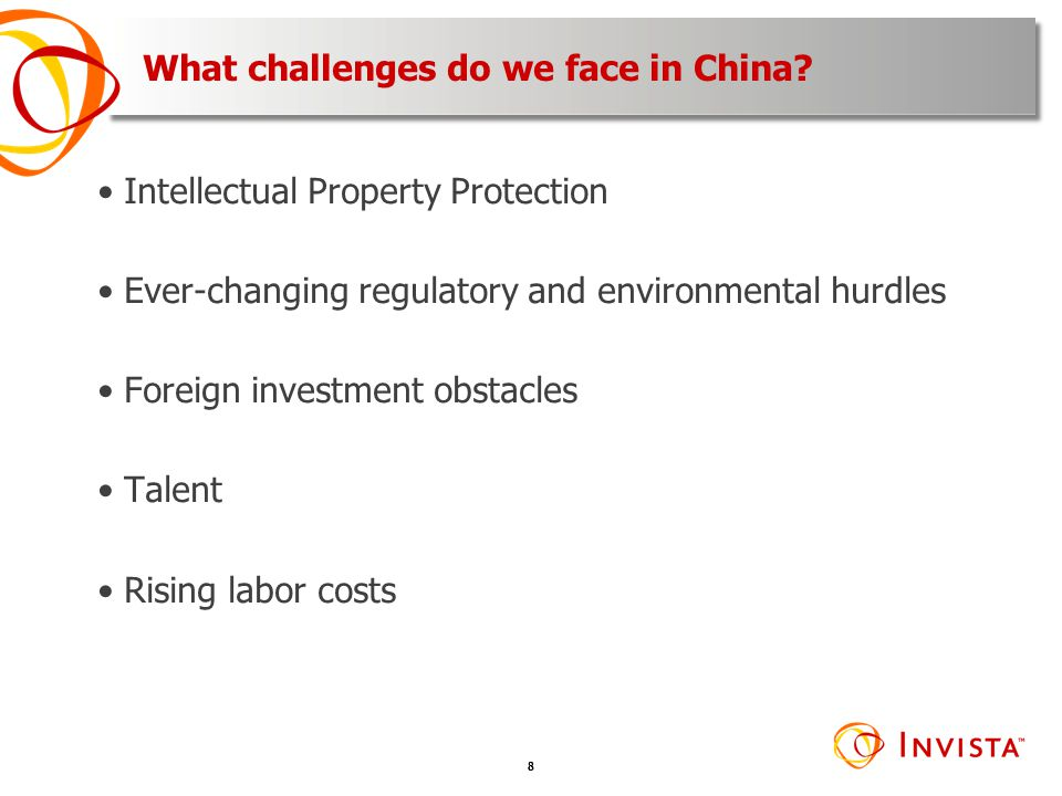What challenges do we face in China