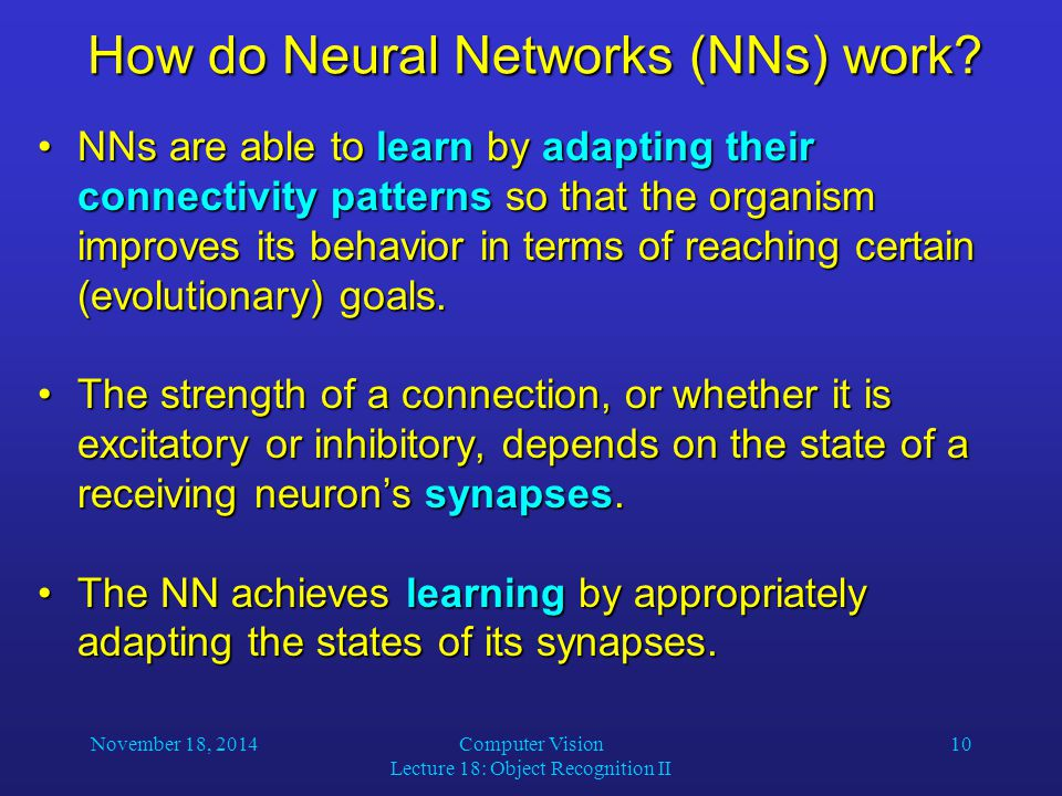 How do Neural Networks (NNs) work