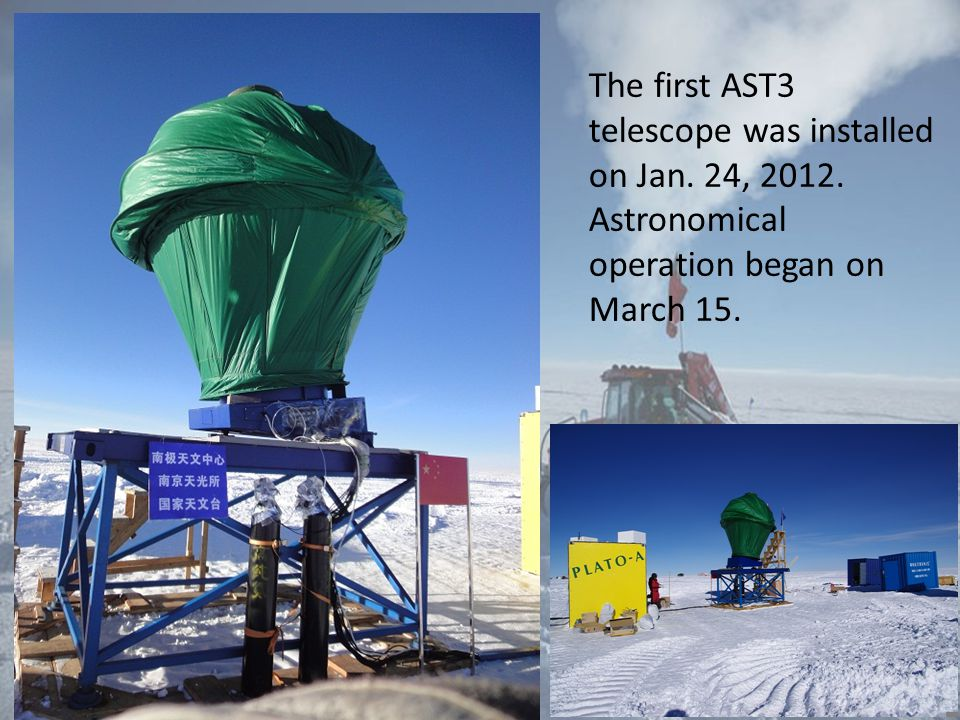 The first AST3 telescope was installed