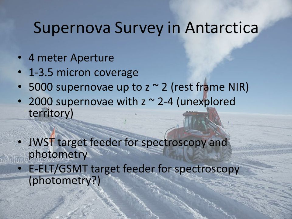Supernova Survey in Antarctica