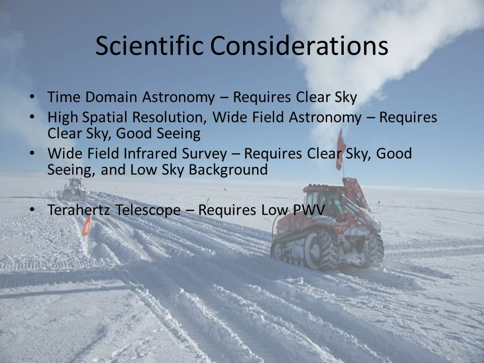 Scientific Considerations