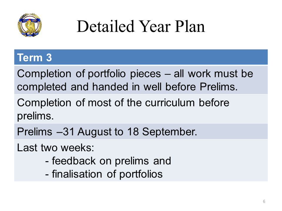 Detailed Year Plan Term 3