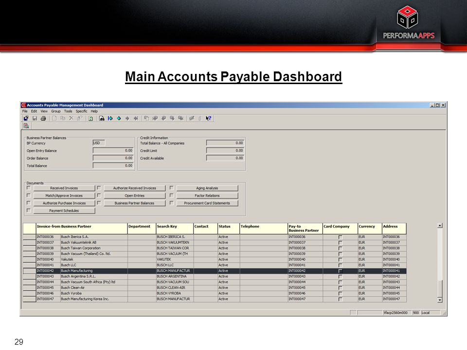 Accounts Payable Dashboard