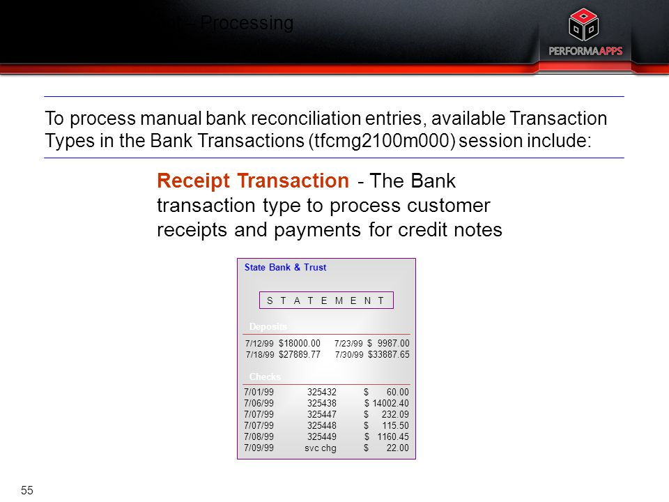 Cash Management – Processing Customer Payments