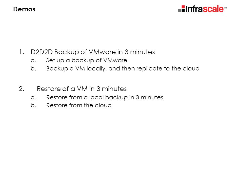 D2D2D Backup of VMware in 3 minutes
