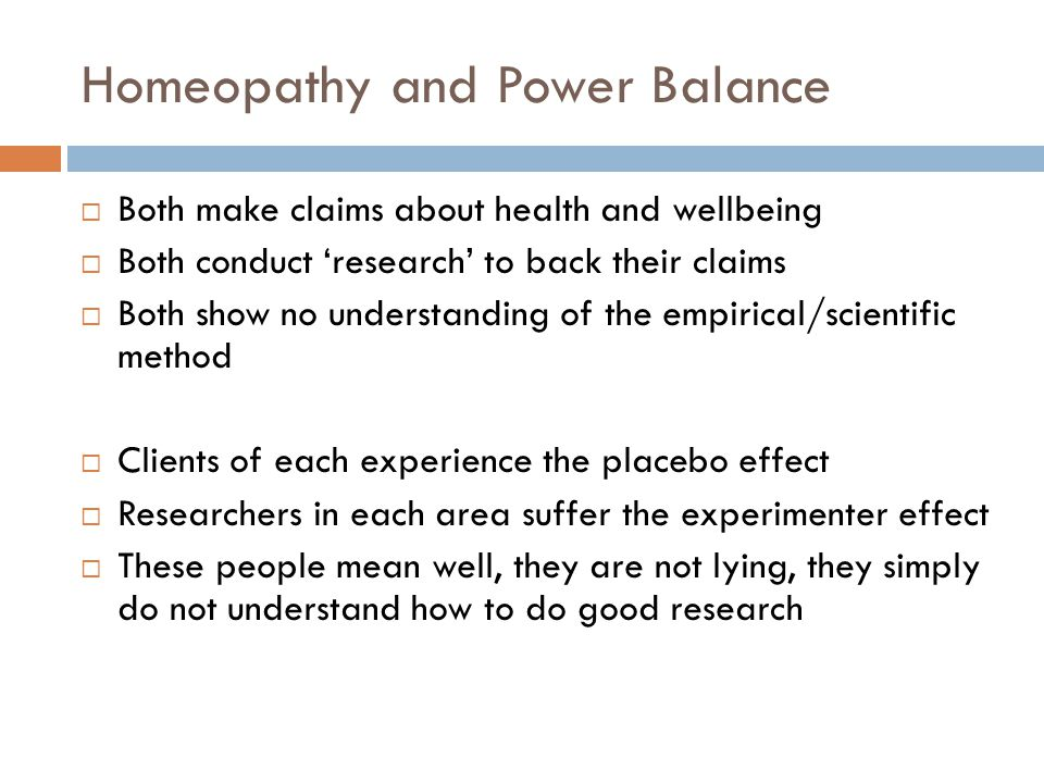 Homeopathy and Power Balance