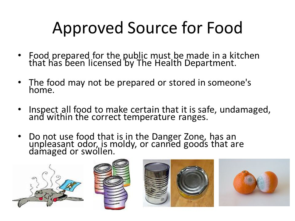 Approved Source for Food