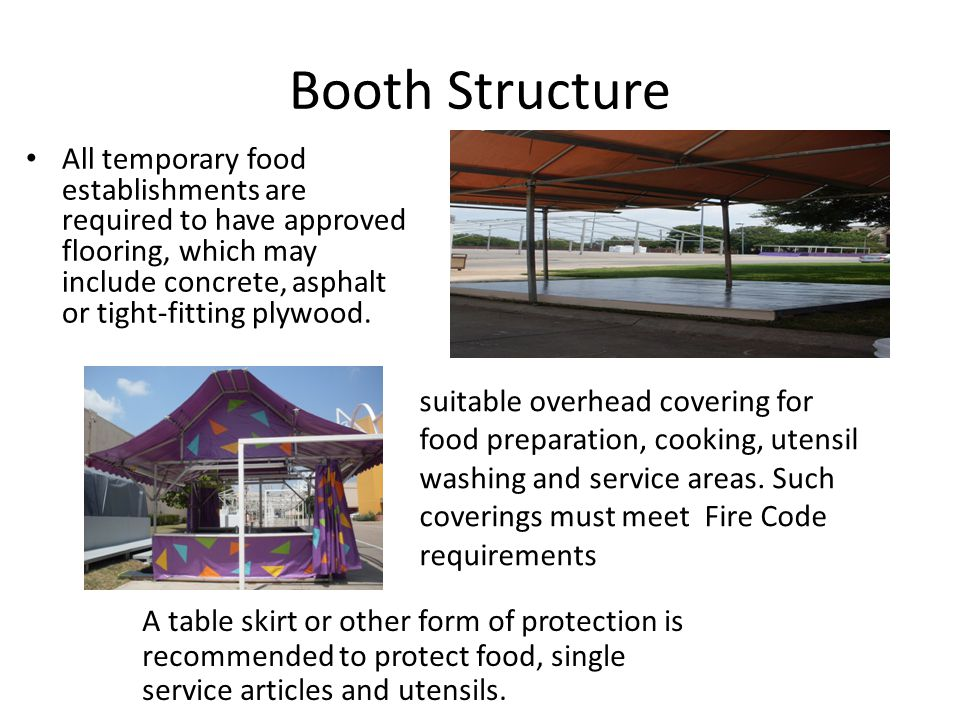 Booth Structure
