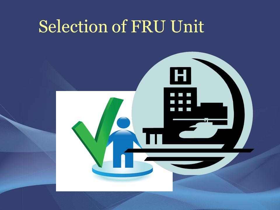 Selection of FRU Unit