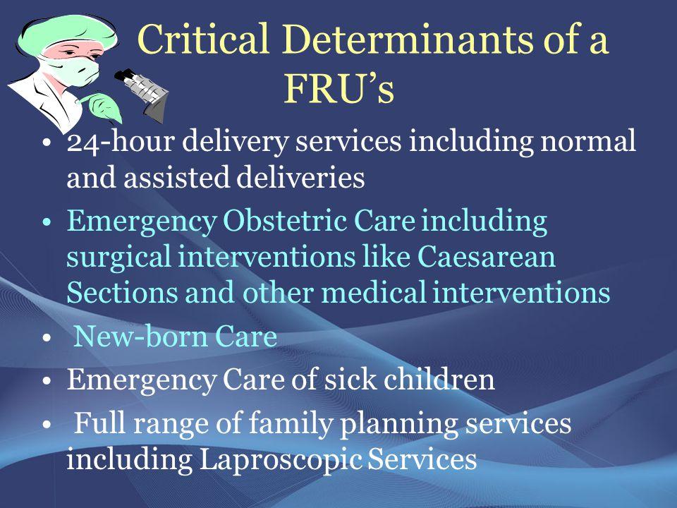 Critical Determinants of a FRU's
