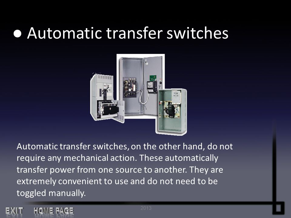 ● Automatic transfer switches