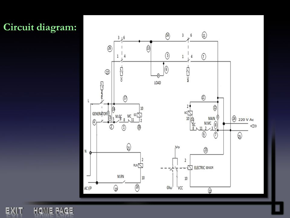 Circuit diagram: EXIT HOME PAGE