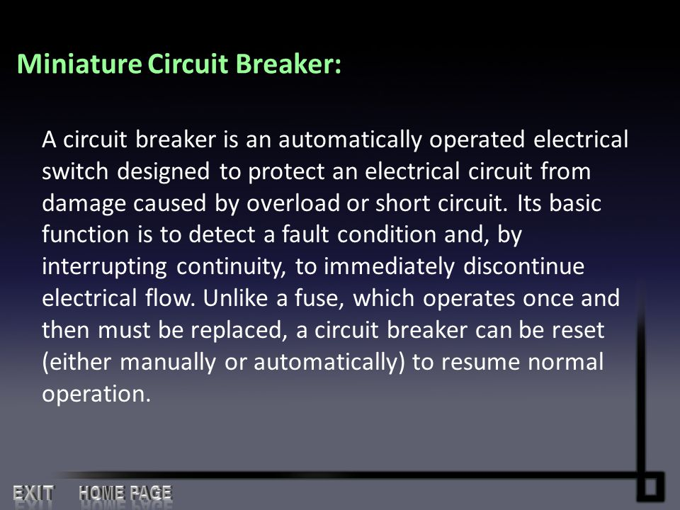Miniature Circuit Breaker: