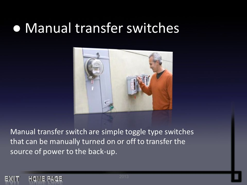● Manual transfer switches
