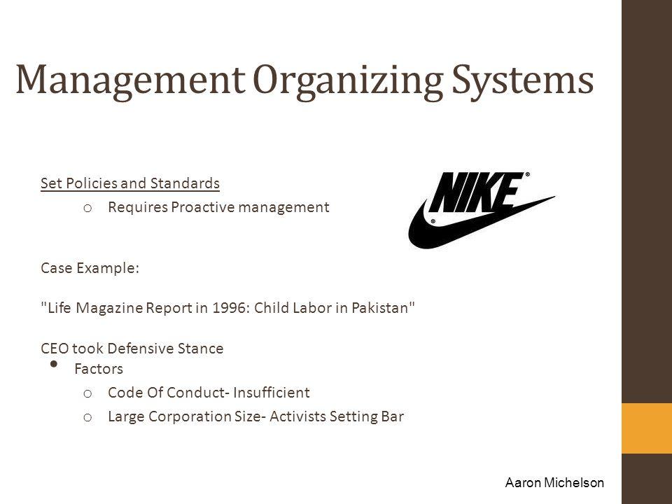 Management Organizing Systems