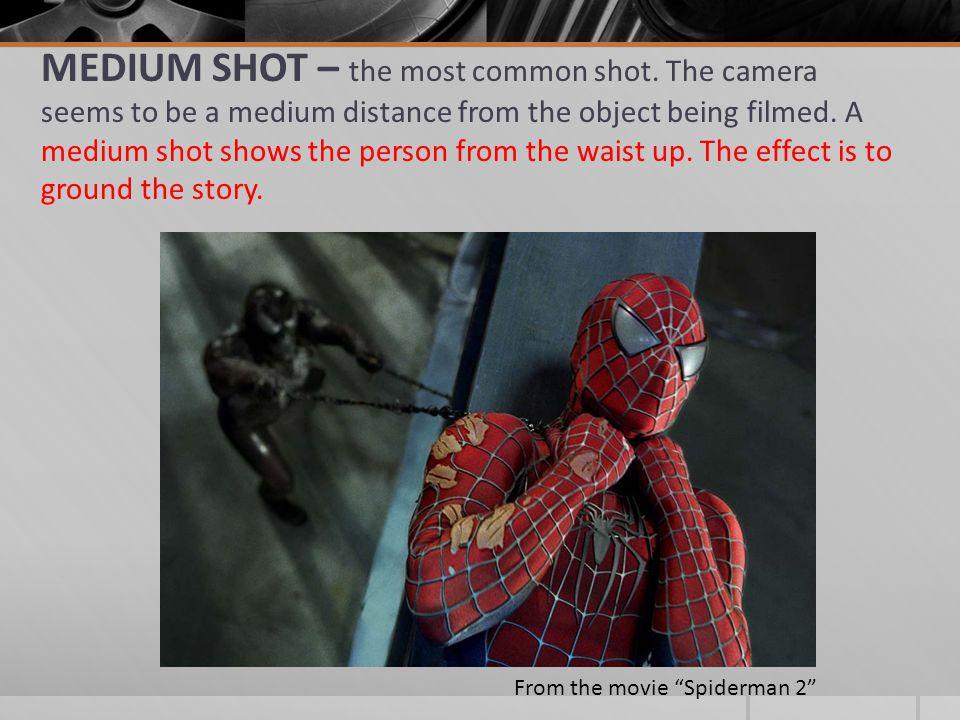 MEDIUM SHOT – the most common shot