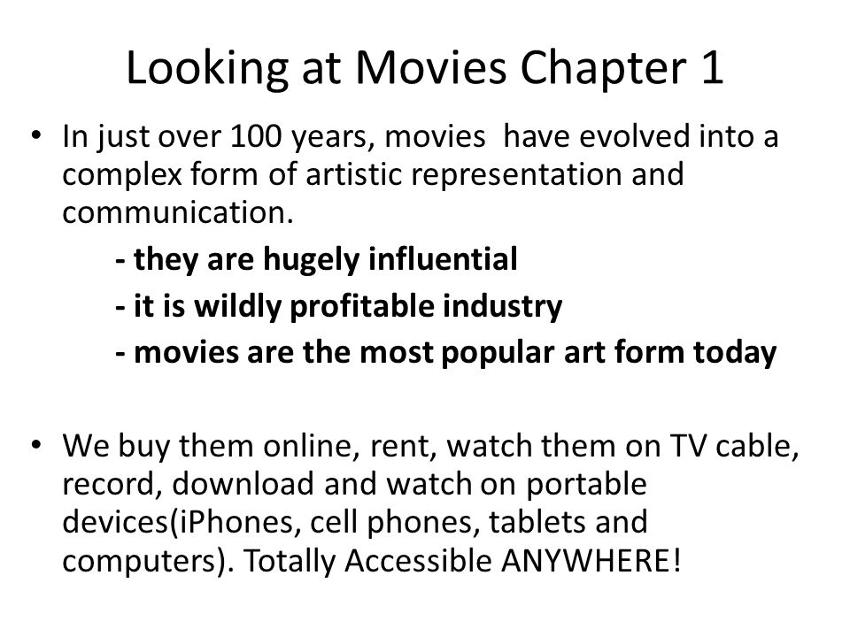 Looking at Movies Chapter 1