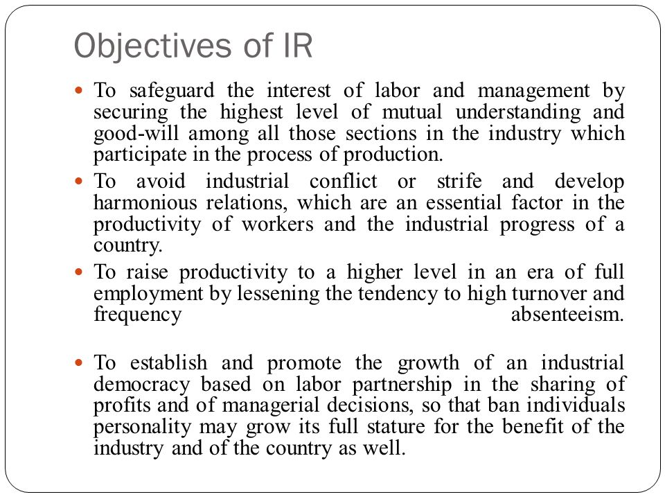 Objectives of IR