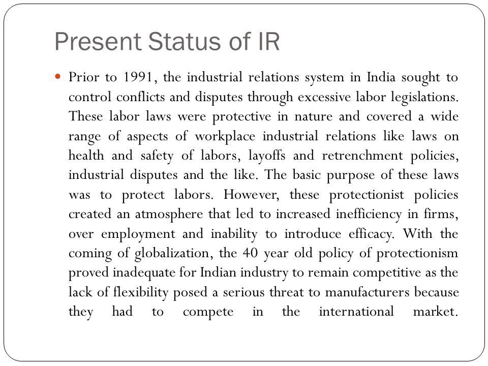 Present Status of IR