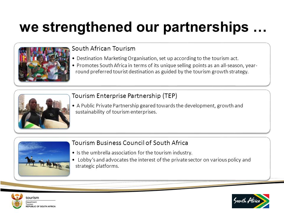 we strengthened our partnerships …