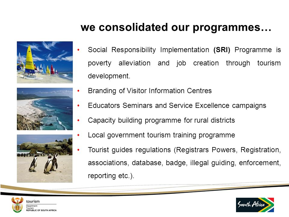 we consolidated our programmes…