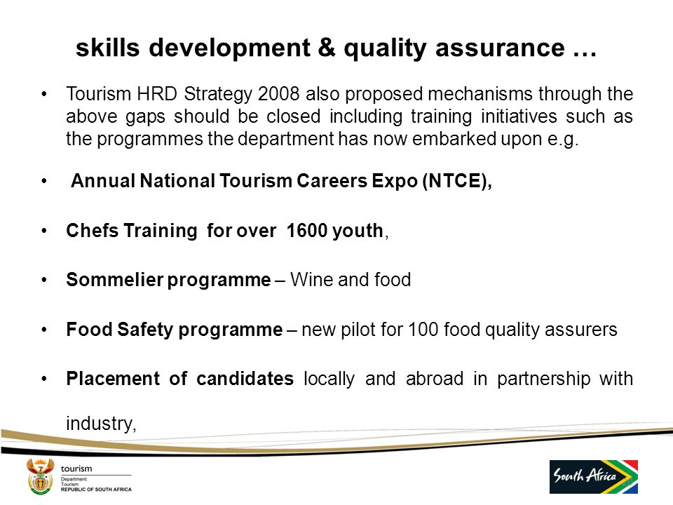 skills development & quality assurance …