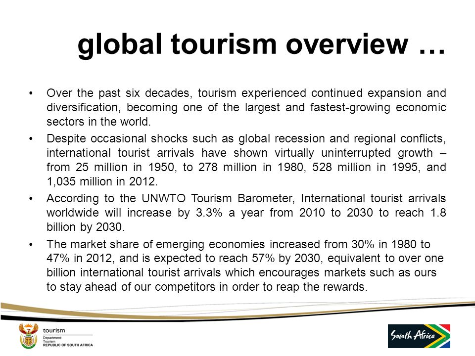 global tourism overview …