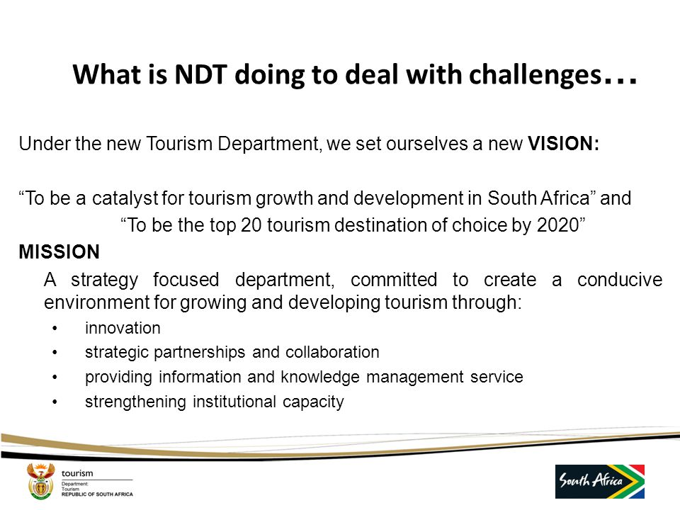 What is NDT doing to deal with challenges…