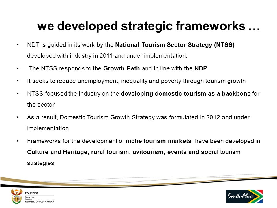 we developed strategic frameworks …