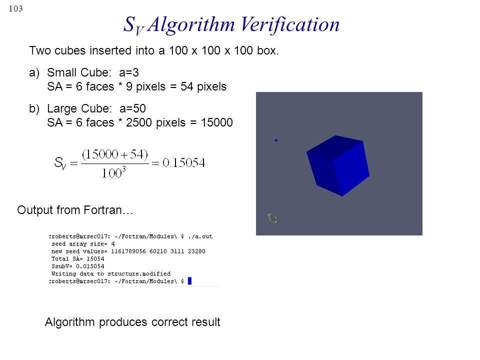 SV Algorithm Verification
