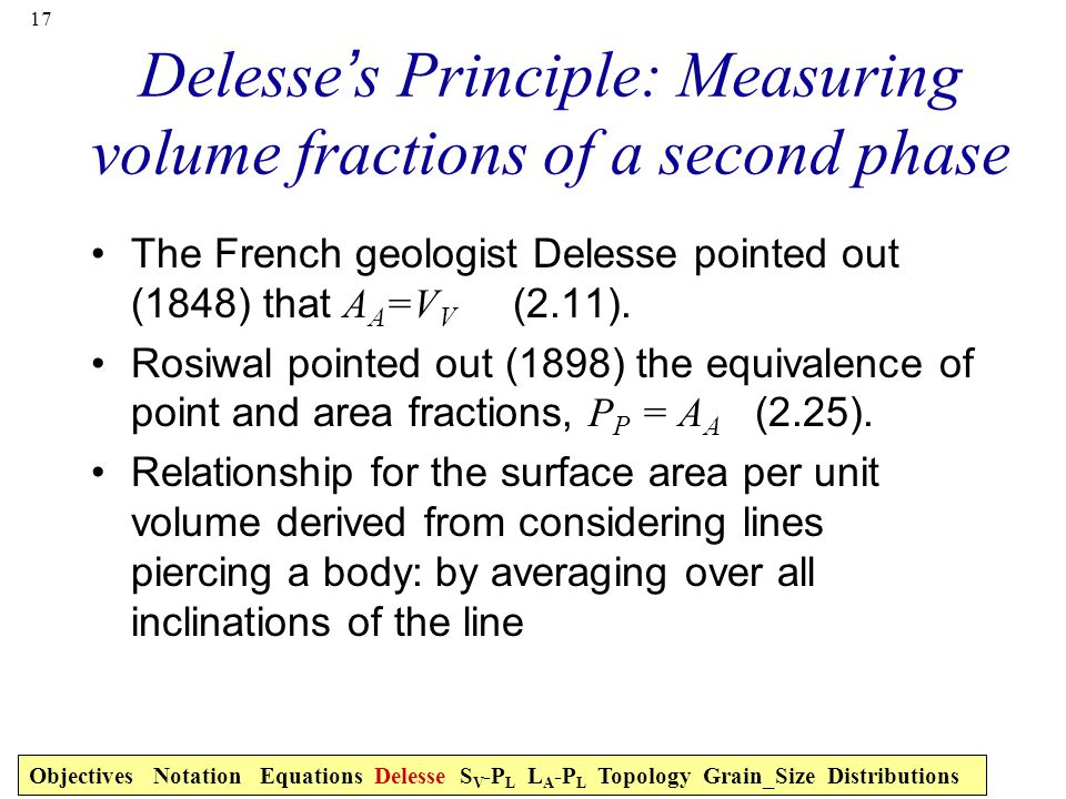 Delesse's Principle: Measuring volume fractions of a second phase
